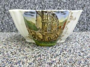 Isle Of Man The Laxey Wheel Souvenir Transfer Ware China Sugar Bowl