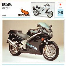 Fiche Photo Moto Japon Japan HONDA VFR 750 F 1992 Edit Edito Service
