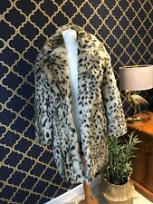ZARA Leopard Animal Print Fur Coat SMALL LARGE OR XS BNWT *Big Fit
