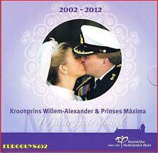 NEDERLAND - BU SET 2012 - WILLEM-ALEXANDER & MAXIMA 10 JAAR GETROUWD