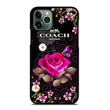 BEAUTIFUL COACH FLOWERS iPhone 6/6S 7 8 Plus X/XS Max XR 11 Pro Case Cover
