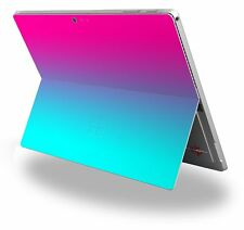 Decal Skin for Surface Pro 4 Smooth Fades Neon Teal Hot Pink