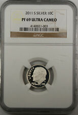 2011-S Proof Silver Roosevelt Dime PF-69 Ultra Cameo NGC