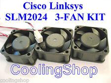 Cisco Linksys SLM2024 Fankit, 3x new Quiet! replacement fans for Linksys SLM2024