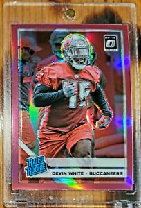 Devin WHITE 🔥 TB BUCS 🏈 2019 PANINI OPTIC * RC * PINK PRIZM ROOKIE REFRACTOR
