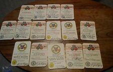 008 Lot Membership BSA Boy Scout Cub Rank Merit Badge Cards Camp Sites etc. 1960