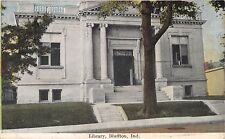 BLUFFTON INDIANA THE LIBRARY~POSTCARD 1909