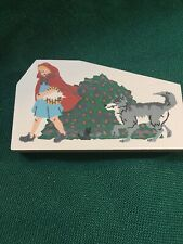 Cat's Meow Wood Accessory- Little Red Riding Hood & Wolf- Signed Jaline '96