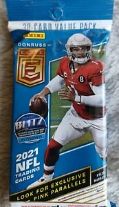2021 NFL Donruss Elite Football Cello Fat Pack-Exclusive Pink Parallels 🏈 🔥