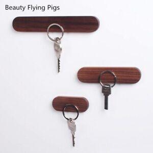Wood Key Holder Wall Key Storage Organizer Strong Magnetic Key Rack Hanger Key