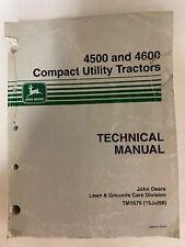 John Deere 4500 And 4600 Compact Utility Tractors Technical Manual Tm 1679