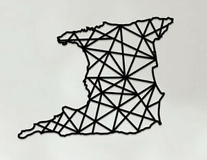 Trinidad Art - Wooden Laser Cut Wall Art - Geometric Country