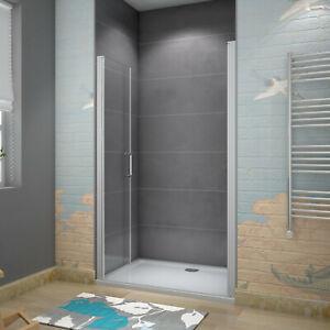 70-140cm 185cm Nische-Duschwand Duschtür Pendeltür ESG-Glas Duschkabinen Dusche