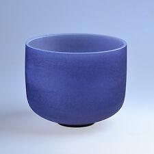 "12"" A Third Eye Navy Blue Chakra Crystal Quartz Singing Bowl Heal Stone"