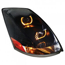 Volvo VN/VNL Projection Headlight with LED Light Bar, Blackout - Passenger Side