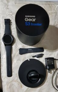 SAMSUNG GEAR S3 SM-R760 FRONTIER SMARTWATCH - NEW - NO MARKS OR WEAR. OPENED BOX