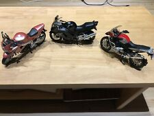 Automax Honda CBR1100XX and Maisto BMW R1200 and Triumph RS 955i Motorcycles