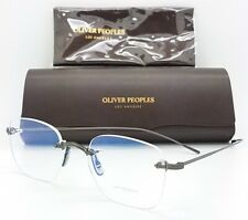 NEW Oliver Peoples Finne Rx Frame OV1227 5244 49mm Rimless Round Dark AUTHENTIC