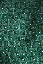 Corbata Seda Charles TYRWHITT Verde y Blanco Micro Lunares una Boda Clásico BNWT