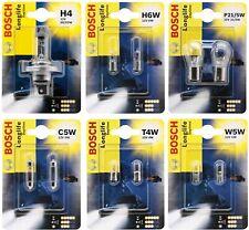 Bosch Autolampen LongLife Blinker Scheinwerfer Bremslicht H4, W5w, C5w, H6W T4W