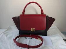 Celine Tri-color Leather TRAPEZE Shoulder bag/w long shoulder strap New