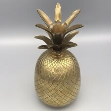 More details for vintage brass pineapple art deco style kitsch bar ice bucket or trinket box home