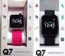 Q7 SPORT SMARTWATCH ANDROID 4.4+ iPHONE IOS 7.2 +HIGHER BLACK OR MAUVE STRAP#PM1