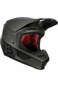 Fox Racing Adult Mens V1 Matte Black MX Motocross Off Road Helmet