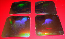 1990 Upper Deck Hologram Sticker Cleveland Indians Chief Wahoo Logo Lot (4)