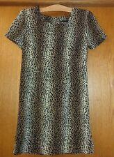 Woman's sz 12P - Leopard print DRESS - Sag Harbor - Square neck - SHIFT - SHARP
