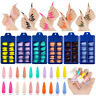 100pcs Long Stiletto Nail Tips Full Cover False Fake Acrylic Nail Art Manicure.