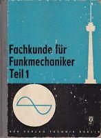 Fachkunde für Funkmechaniker 1, DDR-Lehrbuch Berufsbildung, Technik Verlag 1963