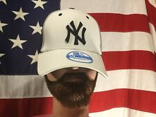 MLB New Era 39 Thirty NY Yankees Team Cap Hat Small/MediumStretch White W/Blue