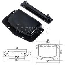 Ajustable Bridge Tailpiece For Teisco Harmony Electric Guitar Black