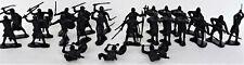 Marx Medieval Knights Crusaders 60MM Black