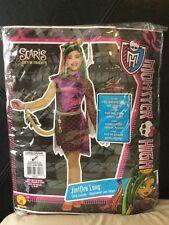 NEW Monster High Jinifire Long Girls Kid Large Halloween Costume Dress Up Purple