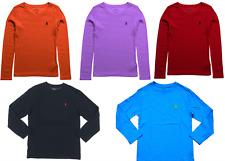POLO RALPH LAUREN KIDS Boys Crew Neck Long Sleeves T.Shirt Top,2,4,6,8,10,14,18Y
