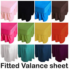100% PolyCotton Extra Deep Fitted Valance Sheets Bed Sheet Single Double King