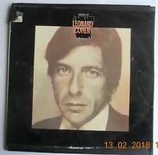 Leonard Cohen-Songs Of-1967 UK Original Vinyl Record-CBS 63241