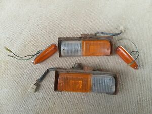 Datsun Nissan 240k c110 Front Left and Right Blinker/Parker Assembly + Repeaters