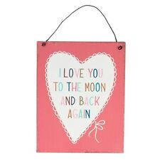 SASS & BELLE I LOVE YOU TO THE MOON AND BACK AGAIN PLAQUE