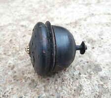 Old Early Rare Handmade & Black Lacquer Painted Spinning Top Shape Wooden Box