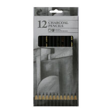 12 Charcoal Artist Pencils For Drawing Sketching Shading Draw Tones Shades