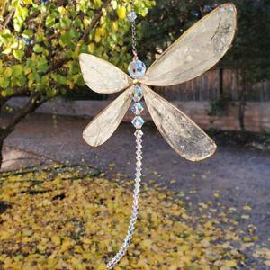 Crystal Sun Catcher Butterfly Prism Rainbow Maker Window Hanging Pendant Decor