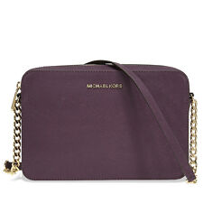 Michael Kors Jet Set Large Saffiano Leather Crossbody -  Damson