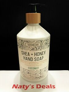 Shea + Honey Hand Soap Infused with Moisturizing Coconut Oil Gluten Free 21.5 0z