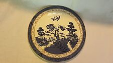 Blue & white willow pattern vintage Art Deco antique cheese plate platter