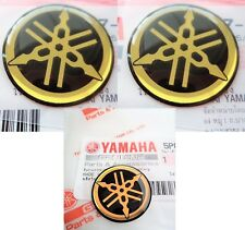 GENUINE Yamaha Tank Badge Gel Decal Sticker GOLD 25MM & 45MM R1 R6 YZF *UK STOCK