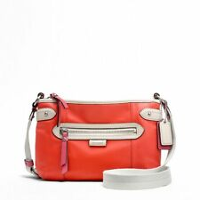 COACH DAISY SPECTATOR LEATHER SWINGPACK F49516 (Red/Sand linning)