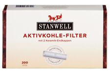 200 STANWELL Pfeifenfilter 9mm | Pfeife Pipe Aktivkohle Filter